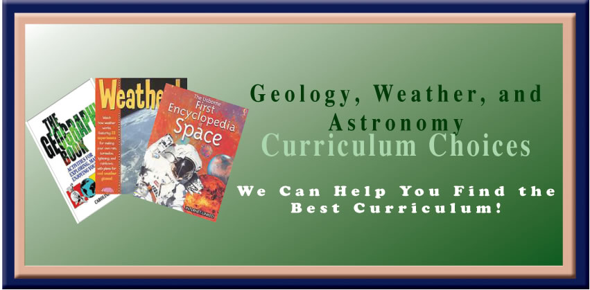 Geology, Weather, and Astronomy Curriculum